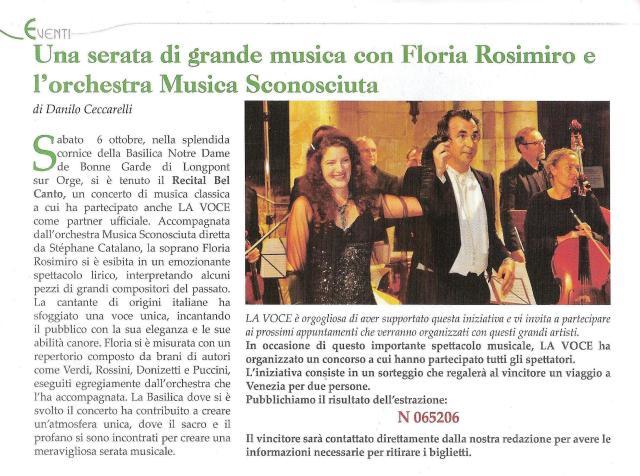 La Voce - N°71 - Novembre/ Décembre 2012