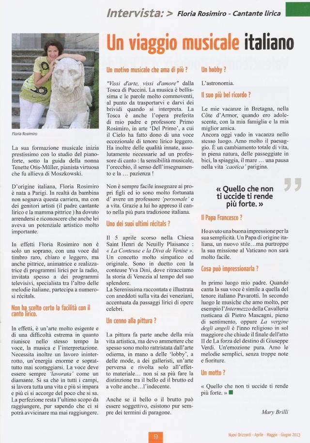 Nuovi Orizzonti - N°298 - Avril / Juin 2013