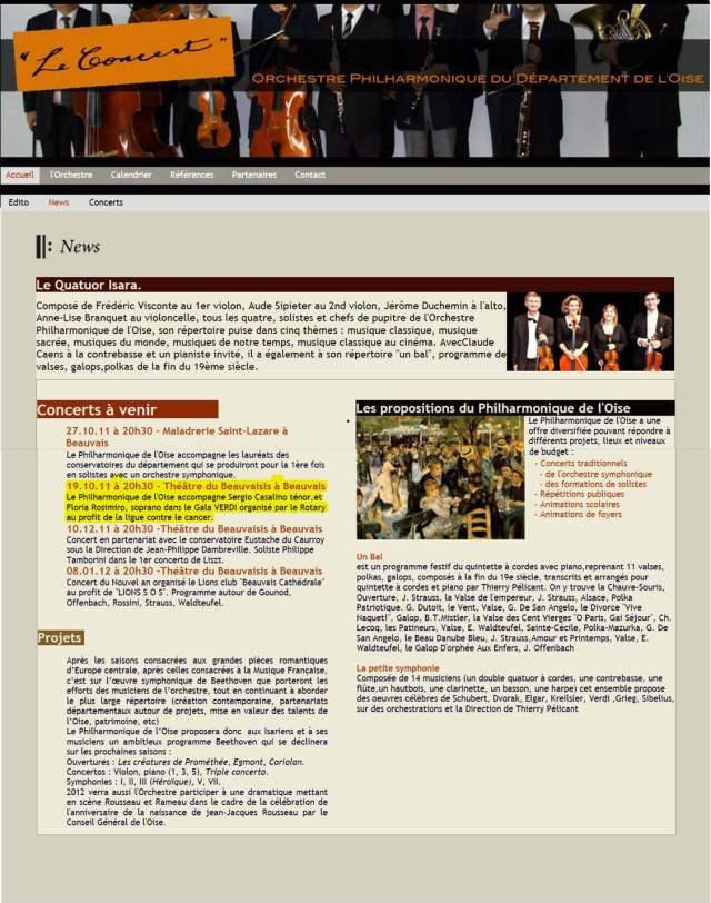 Newsletter orchestre symphonique de l'Oise
